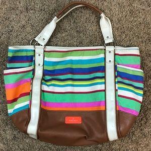 Nine West Large Striped Handbag